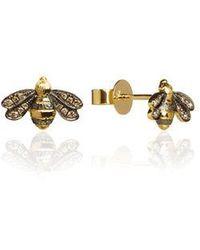 Annoushka - Love Diamonds 18ct Gold Diamond Bee Studs - Lyst