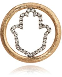 Annoushka - 18ct Gold Diamond Hand Of Fatima Hoopla - Lyst