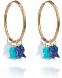 Annoushka - 18ct Gold Mixed Tulip Earrings - Lyst