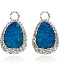 Annoushka - Unique 18ct White Gold Opal Diamond Earring Drops - Lyst