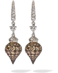 Annoushka - Touch Wood 18ct White Gold Diamond Earrings - Lyst