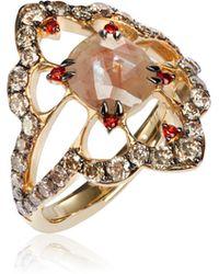 Annoushka - Imperial 18ct Gold Garnet Diamond Ring - Lyst