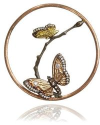 Annoushka - 18ct Rose Gold Diamond Butterfly Hoopla - Lyst