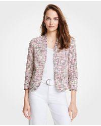 Ann Taylor - Rainbow Tweed Jacket - Lyst