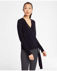 Ann Taylor - Petite Extrafine Merino Wool Wrap Sweater - Lyst