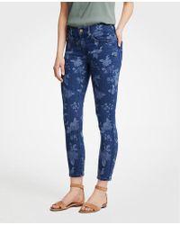 Ann Taylor - Petite Modern Island Floral Skinny Crop Jeans - Lyst