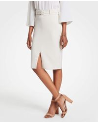 Ann Taylor - Belted Pencil Skirt - Lyst