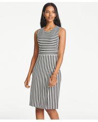 ad488cf664 Lyst - Ann Taylor Tropical Wool Sheath Dress in Gray