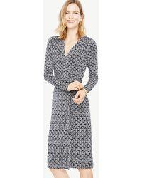 Ann Taylor - Tall Vine Wrap Dress - Lyst