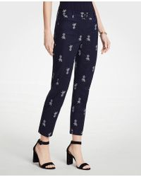 Ann Taylor - The Crop Pant In Pineapple - Lyst