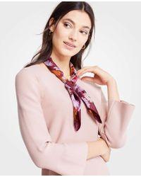 Ann Taylor - Autumnal Floral Silk Little Scarf - Lyst