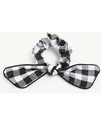 Ann Taylor - Gingham Bow Tie Scrunchie - Lyst