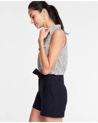 Ann Taylor - Marina Tie Waist Shorts - Lyst