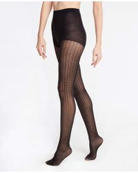 Ann Taylor - Houndstooth Tights - Lyst