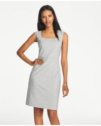 ad3bbcc1d460 Lyst - Ann Taylor Petite Striped Midi Sweater Dress in Blue