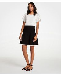 Ann Taylor - Tipped Flare Sweater Skirt - Lyst