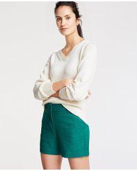 Ann Taylor - Petite Textured Cotton Metro Shorts - Lyst