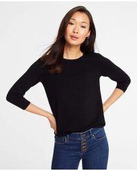 Ann Taylor - 3/4 Sleeve Sweater - Lyst