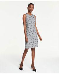 8141132fe84 Lyst - Ann Taylor Sleeveless Flare Sweater Dress in Black