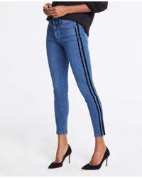 Ann Taylor - Modern Velvet Side Stripe All Day Skinny Jeans - Lyst