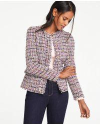 Ann Taylor - Fringe Tweed Jacket - Lyst