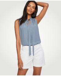 Ann Taylor | Cotton Mid Shorts | Lyst