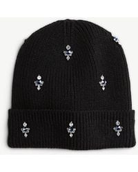 Ann Taylor - Embellished Knit Hat - Lyst