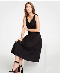 Ann Taylor - Tie Shoulder Midi Dress - Lyst