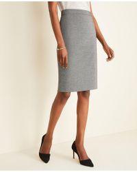 Ann Taylor - The Petite Pencil Skirt In Birdseye - Lyst