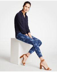 Ann Taylor - Petite Curvy Island Floral Skinny Crop Jeans - Lyst