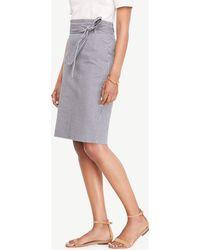Ann Taylor - Seersucker Paper Bag Skirt - Lyst