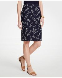 Ann Taylor - Curvy Pineapple Pencil Skirt - Lyst