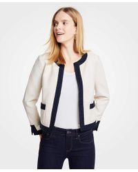 Ann Taylor - Textured Open Jacket - Lyst