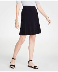 Ann Taylor - Flounce Sweater Skirt - Lyst