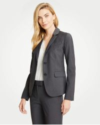 The Two Button Blazer In Tropical Wool