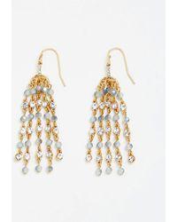 Ann Taylor - Beaded Tassel Earrings - Lyst