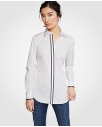 Ann Taylor - Tipped Perfect Shirt - Lyst