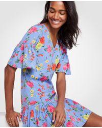 Ann Taylor - Floral Flounce Shift Dress - Lyst