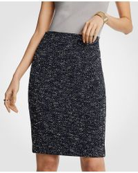 Ann Taylor - Petite Marled Knit Pencil Skirt - Lyst