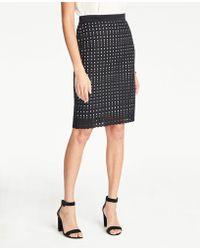 e18bfb5e5b Ann Taylor Petite Doubleweave A-Line Skirt in Orange - Lyst