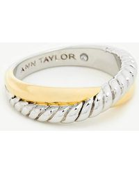 Ann Taylor - Twisted Metal Ring - Lyst