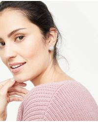 Ann Taylor - Pave Statement Stud Earrings - Lyst