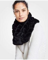 Ann Taylor - Ribbed Faux Fur Snood - Lyst