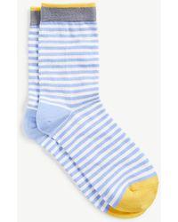 Ann Taylor | Colorblocked Stripe Trouser Socks | Lyst