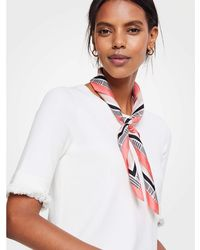 Ann Taylor - Plaid Silk Little Scarf - Lyst