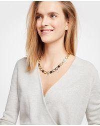 Ann Taylor - Flower Necklace - Lyst