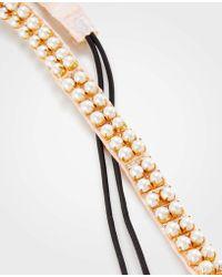 Ann Taylor - Pearlized Elastic Headband - Lyst