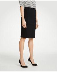 cc649a0dc Ann Taylor Mesh Pencil Skirt in Black - Lyst