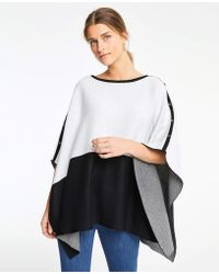 Ann Taylor - Reversible Button Cape - Lyst
