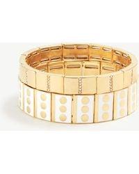Ann Taylor - Dot Pave Enamel Stretch Bracelet Set - Lyst